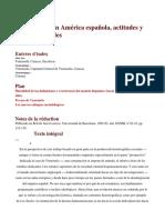 Las Élites en América Española, Actitudes y Mentalidades