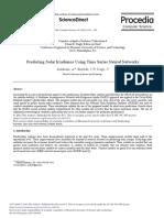 Procedia Computer Science Volume 36 Issue 2014 [Doi 10.1016%2Fj.procs.2014.09.065] Alzahrani, A.; Kimball, J.W.; Dagli, C. -- Predicting Solar Irradiance Using Time Series Neural Networks