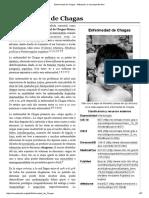 Enfermedad de Chagas - Wikipedia, La Enciclopedia Libre