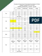 GTU-6- 8th Sem Calendar