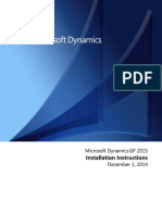 Dynamics GP 2015 Installation Instructions