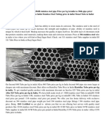 Stainless Steel Pipe Supplier in India