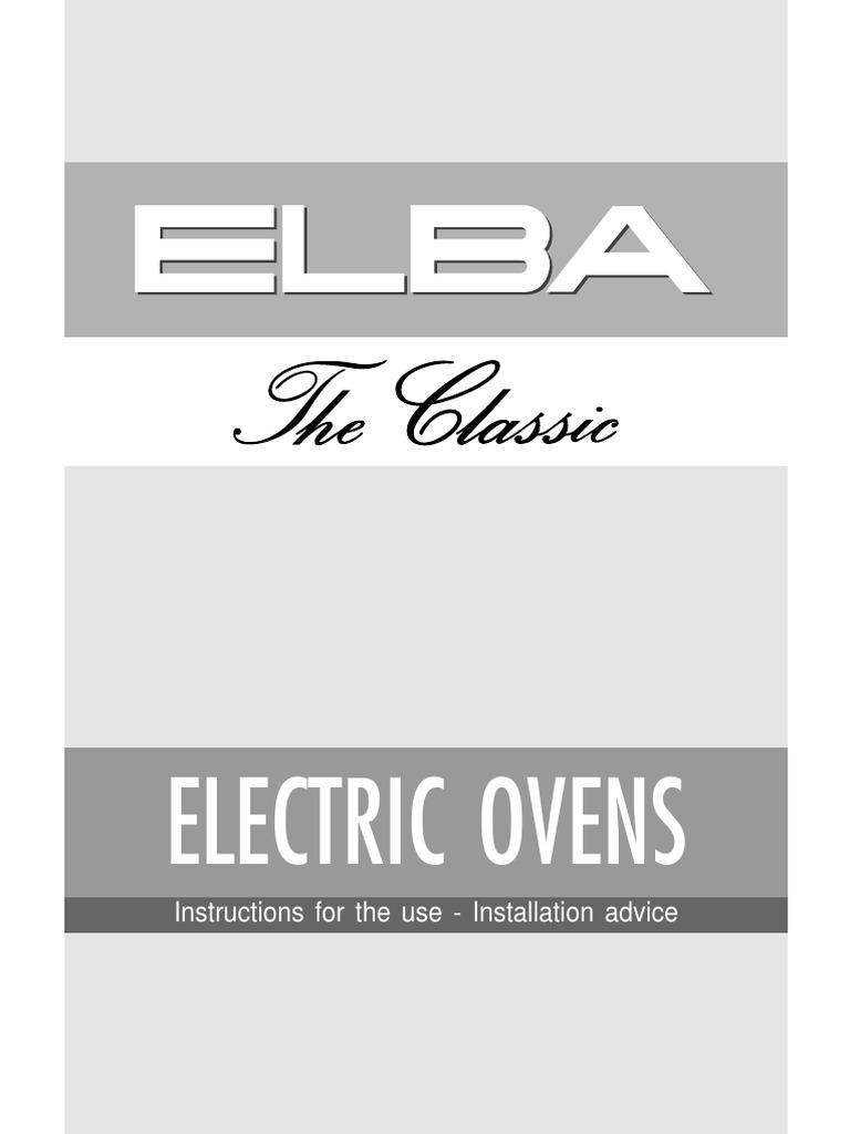 Elba Oven Manual Grilling Roasting