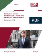 FCA Consumer Credit PS15-23