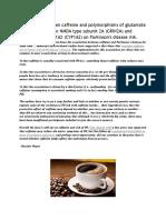 Interaksi Antara Kafein Dan Polimorfisme Glutamat