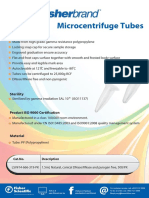 FB Microcentrifuge Tubes Flyer