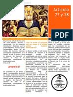 Articulo 27 y 28 Mascareñas Cajigal