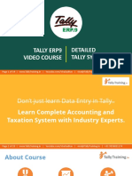 Tally ERP9 Course Syllabus GST