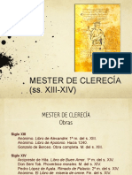 Berceo y El Mester de Clerecia