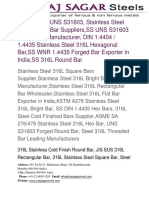 Stainless Steel 316L Round Bar Supplier
