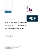 FDA and Prospect Written Evidence to the SSRB - January 2018