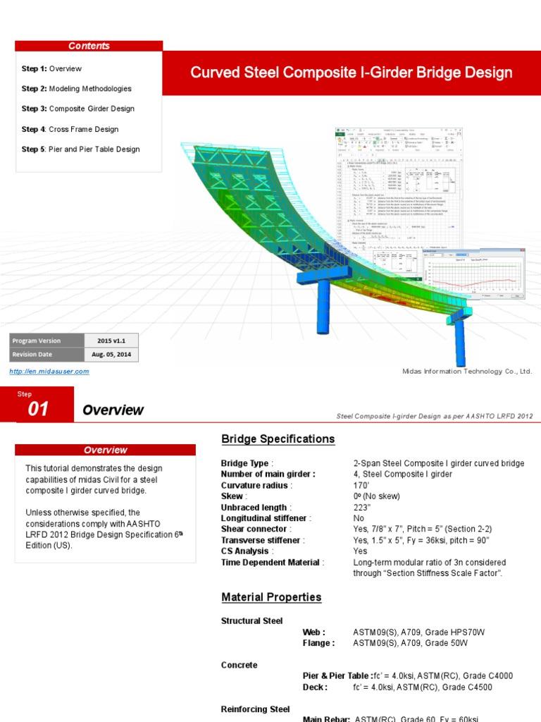 23  Curved Steel Composite I-Girder Bridge Design pdf
