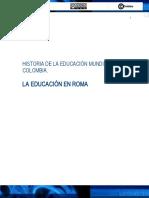 Historia de la Educacion en Roma