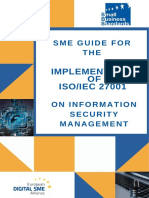 SME Guide for the implementation of ISO/IEC 27001 on information security management