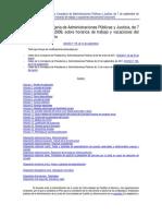 Orden Horarios Trabajo y Vacaciones Del Personal Funcionario 2009