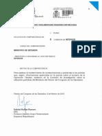 Solicitud de comparecencia del ministro Zoido presentada por el diputado Gabriel Rufián (ERC)