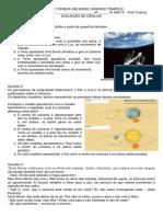 Cristina - 5º Ano Avaliação de Ciências Imprimir