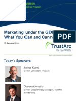 Marketing under the GDPR
