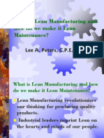 What is Lean Manufacturing and How Do We Make It Lean Maintenance
