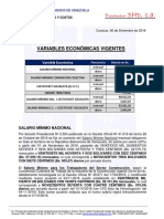 Variables Economicas Vigentes (Diciembre 2016)