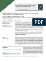 Aplicación de Un Algoritmo Evolutivo Para La Optimización Del Modelado Computacional de La Pirólisis de Materiales