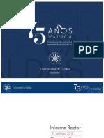 Informe del Rector U. de Caldas al Consejo Superior – 31 Enero de 2018