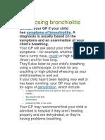 Diagnosing Bronchiolitis