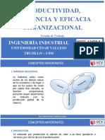 Introducción Al Estudio de Trabajo - Productividad Eficiencia y Eficacia