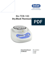 MU.calentador Portaobjetos BIO TDB-100(INGLES)