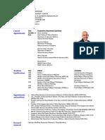Prof S Sethi - 1 Page CV - JAN 2017 With Photo
