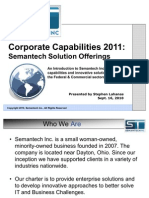Semantech Corporate Capabilities 2011