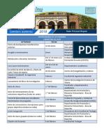 Calendario Academico 2018 Sede Principal Bogota