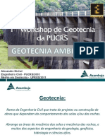 1° Workshop de Geotecnia PUCRS 2016 - GEOTECNIA AMBIENTAL