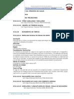 Especificaciones - Carhuaran 1-2