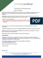PRINCE2 2017 Foundation and Practitioner - JIs - TKA