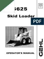 5625 Operator Manual GEHL skid steer
