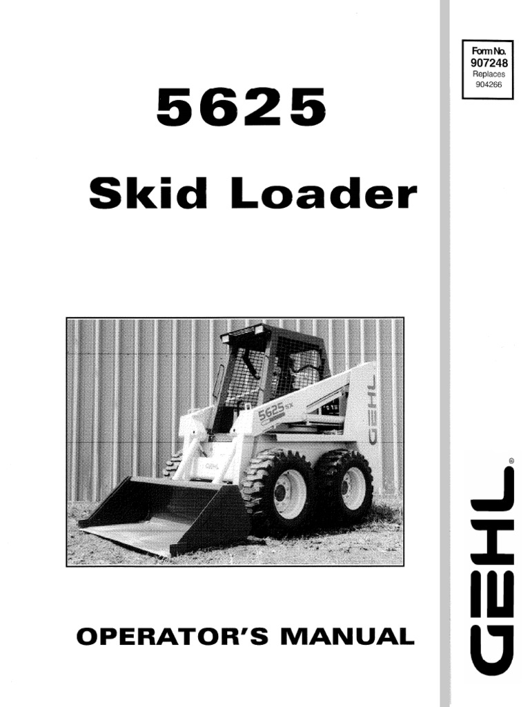 5625 operator manual gehl skid steer loader equipment elevator rh es scribd com gehl 4625 skid steer service manual Cat 262C Skid Steer Operator Manual