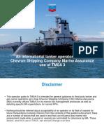 Operator Guide to Chevron Shipping Company Marine Assurance Use of TMSA 3