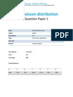 44.1 the Poisson Distribution Qp Ial-cie-maths-s2