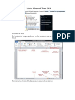 Iniciar Microsoft Word 2010