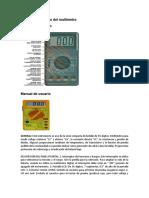 Informe Del Manejo Del Multímetro y Osiloscopio