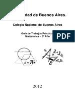 Guia Matematica 5to Ano 2012