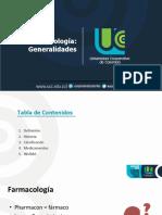 1. Generalidades farmacología