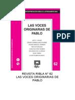Ribla, Las Voces Originarias de Pablo