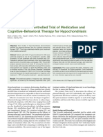 4. a Randomized Controlled Trial of Medication and Cognitive-Behavioral Therapy for Hypochondriasis