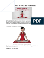 Sitting Poses in Yoga and Pranayama