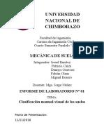 Clasificacion Manual Visual de Suelos