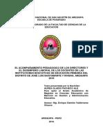 Tesis El Acompañamiento Pedagogico de Los Directores y Desempeño Laboral Docente