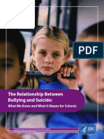 Bullying and Suicide CDC Report_Violence Prevention
