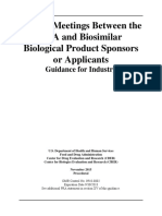 Formal Meetings Between the FDA and Biosimilar Biological Product Sponsors or Applicants November 2015 Procedural 15085fnl